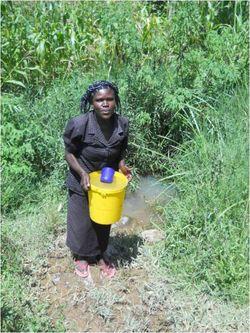 Soteni Rose Akoth collecting 2