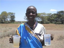 VAC demo 1 Maasai woman with clean and dirty CSDW 2