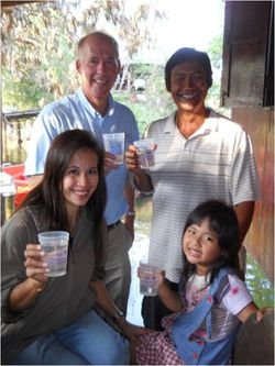 4 billionth liter with Dr Greg Paweena Yospong Chakarn Khoporn 2