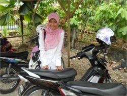 Siska with motorcycle 2