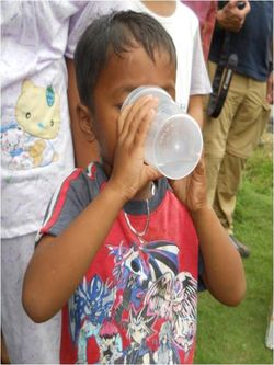 Kid drinking 2