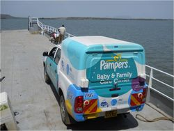 Pampers truck on ferry2