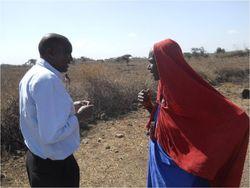 VAC demo 2 John talking with Maasai woman 2